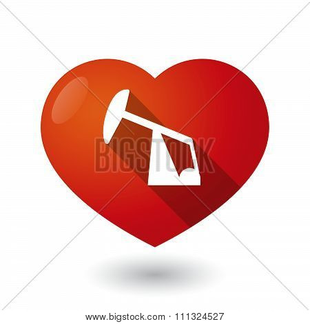 Isolated Red Heart With A Horsehead Pump