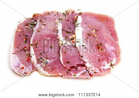 Four Pieces Of Pork Meat