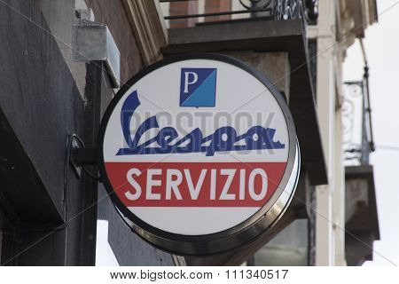 Vespa Service Station In Amsterdam