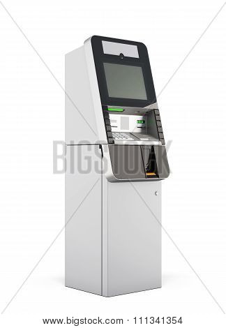Atm Machine. 3D Rendering.