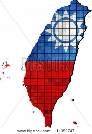 Taiwan Map With Flag Inside.eps