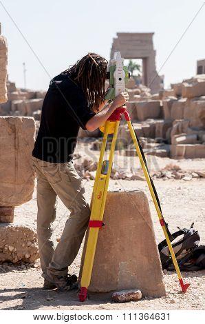 Surveyor Working At Luxor