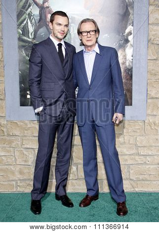 Nicholas Hoult and Bill Nighy at the Los Angeles Premiere of