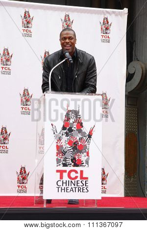 Chris Tucker at the Jackie Chan Hand & Foot Print Ceremony held at the TCL Chinese Theatre on June 6, 2013 in Los Angeles, California.