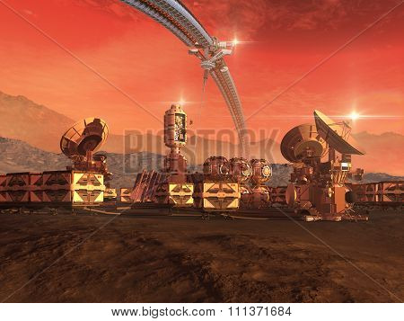 Colony on a red planet