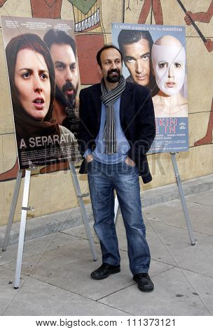 Asghar Farhadi at the American Cinematheque's 69th Annual Golden Globe Awards Foreign-Language Nominee Event held at the Egyptian Theater in Los Angeles on January 14, 2012.
