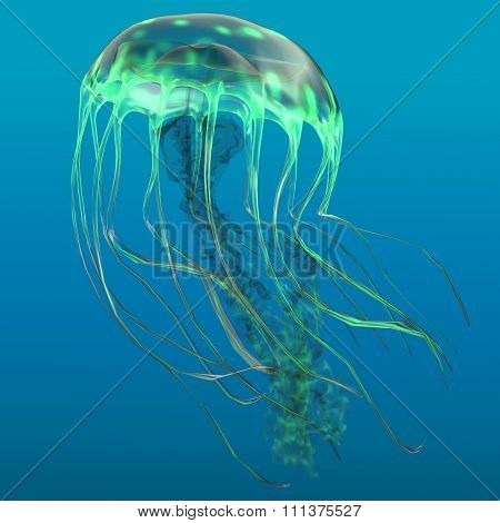 Glow Green Jellyfish