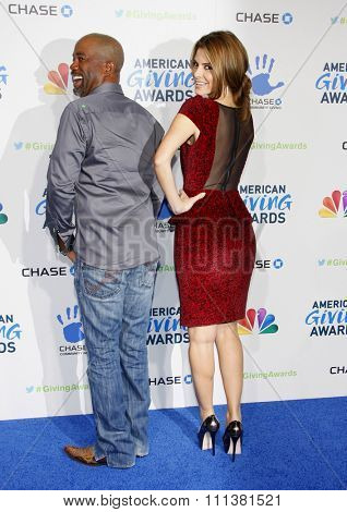 Darius Rucker and Maria Menounos at the 2nd Annual American Giving Awards held at the NPasadena Civic Auditorium in Los Angeles, California, United States on December 7, 2012.