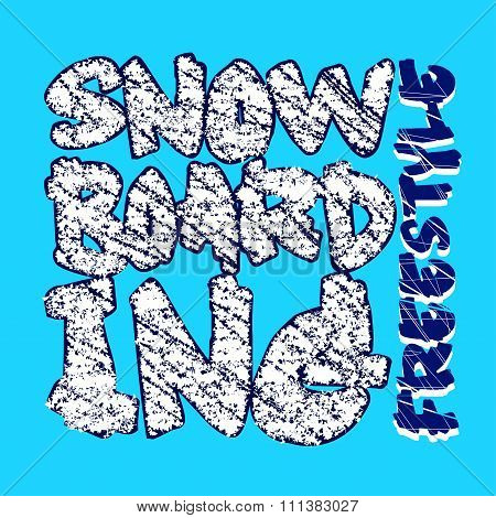 Snowboarding Blue Design