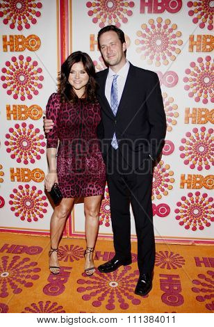 Tiffani Thiessen and Brady Smith at the HBO's 2011 Emmy After Party held at the Pacific Design Center in West Hollywood, California, United States on September 18, 2011.