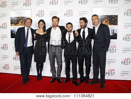 Sergio G. Sanchez, Belen Atienza, Ewan McGregor and J.A. Bayona at the 2012 AFI Fest Special screening of