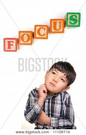 Focused little boy.