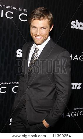 HOLLYWOOD, CALIFORNIA - Tuesday March 20, 2012. Liam McIntyre at the Los Angeles Premiere of Starz Series