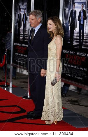 Harrison Ford and Calista Flockhart at the Los Angeles Premiere of