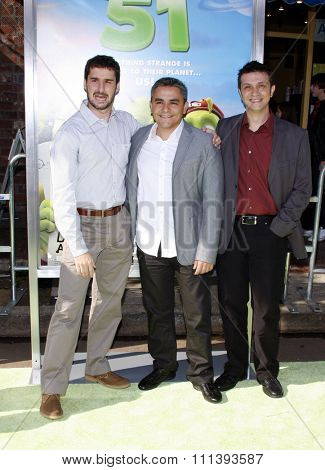 14/11/2009 - Westwood - Directors Jorge Blanco, Javier Abad and Marcos Martinez at the Los Angeles Premiere of