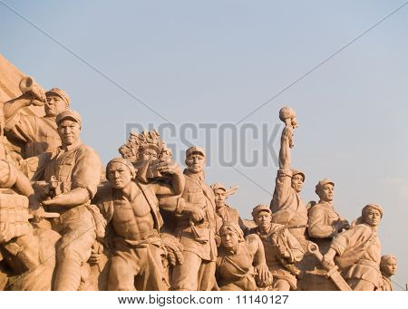 Workers Statue At Tiananmen Square In Beijing, China