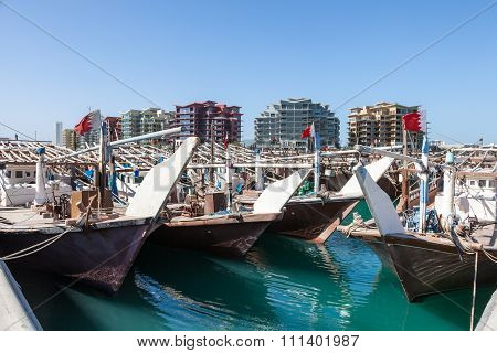 Dhow Harbor In Manama, Bahrain