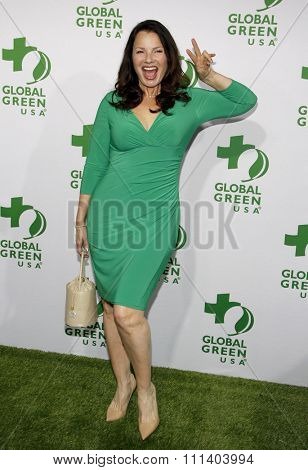 Fran Drescher at the Global Green USA's 12th Annual Pre-Oscar Party held at the Avalon in Los Angeles on Wednesday February 18, 2015.
