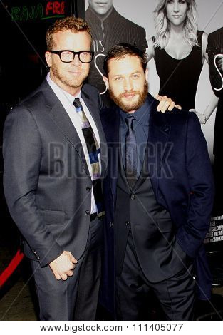 HOLLYWOOD, USA - FEBRUARY 8: McG and Tom Hardy at the Los Angeles Premiere of