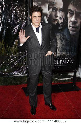 Benicio Del Toro at the American Premiere of