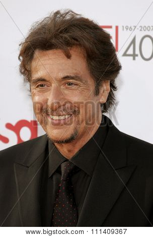 Al Pacino attends the 35th Annual AFI Life Achievement Award: a tribute to Al Pacino held at the Kodak Theatre in Hollywood, California on June 7, 2007.