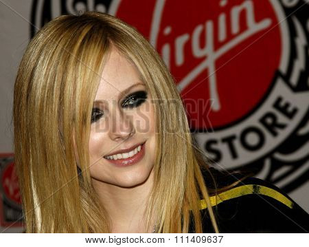 Avril Lavigne attends the Best Damn Thing CD Signing held at the Virgin Records in Hollywood, California on April 19, 2007.