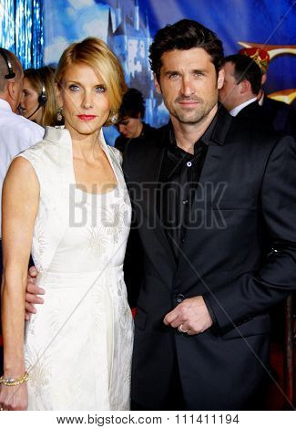 Patrick Dempsey and wife Jill Fink attend the World Premiere of