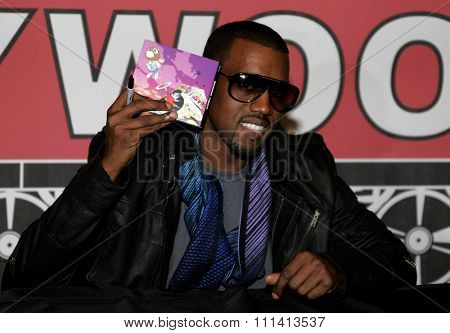 Kanye West attends the in-store signing of his new release 'Graduation' held at the Virgin Megastore Hollywood & Highland in Hollywood, California, United States on September 13, 2007.