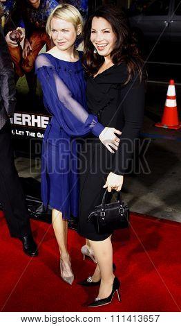 Renee Zellweger and Fran Drescher attend the World Premiere of