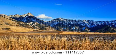 Bridger Mountain Range.