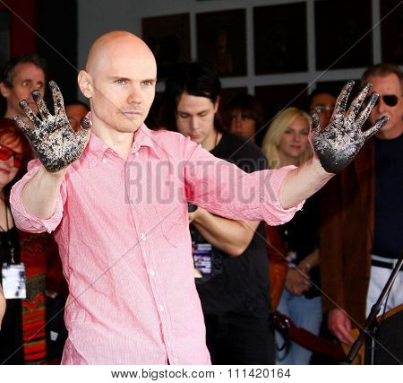 Billy Corgan and Jimmy Chamberlin attend the Hollywood's RockWalk inducts The Smashing Pumpkins held at the Guitar Center in Hollywood, California, United States on April 23, 2008.