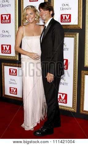 Rebecca Romijn and Jerry O'Connell attend the 5th Annual TV Guide's Emmy Awards Afterparty held at the Les Deux in Hollywood, California, United States on September 16, 2007.