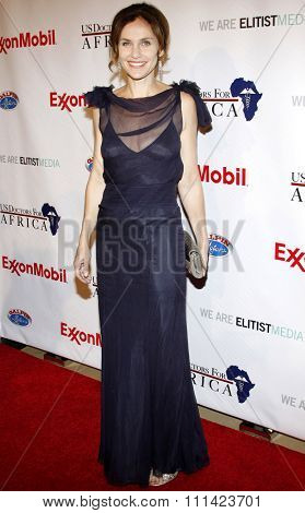 Amy Brenneman at the US Doctors For Africa Honors The First Ladies Of Africa held at the Beverly Hilton Hotel in Los Angeles, United States, 210409.