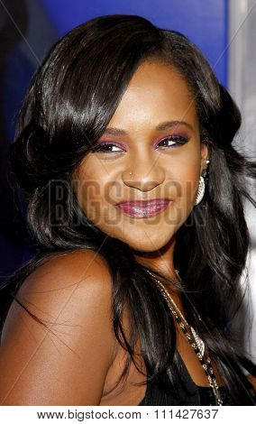August 16, 2012. Bobbi Kristina Brown at the Los Angeles premiere of 'Sparkle' held at the Grauman's Chinese Theatre, Los Angeles.