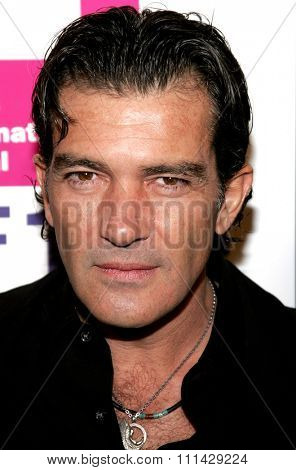Antonio Banderas attends the LALIFF Gabi Awards Honoring Antonio Banderas held at the Egyptian Theatre in Hollywood, California on October 14, 2006.