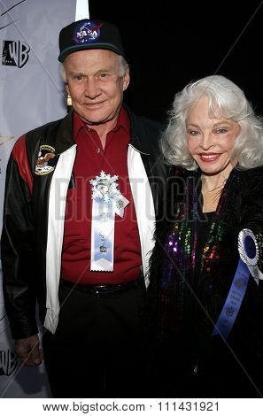 November 27, 2005 - Hollywood - Buzz Aldrin and wife Lois at the 2005 Hollywood Christmas Parade at the Hollywood Roosevelt Hotel in Hollywood, CA. USA.