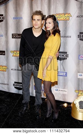 Paul Wesley and Torrey DeVitto at the Spike TV's 'SCREAM 2011' awards held at Universal Studios in Universal City, California on October 15, 2011.