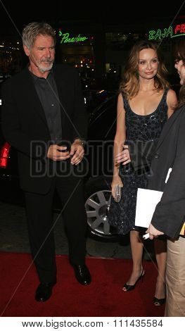 Harrison Ford and Calista Flockhart attend the Warner Bros World Premiere of