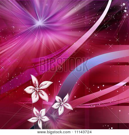 purple decorative composition