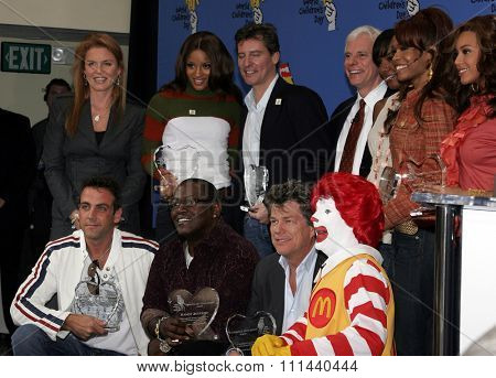 November 15, 2005, Los Angeles - Sarah Ferguson, Ciara, Doug Wilson, Kelly Rowland, Michelle Williams and Beyonce Knowles, Calos Ponce, Randy Jackson and David Foster at the 2005 World Children's Day.