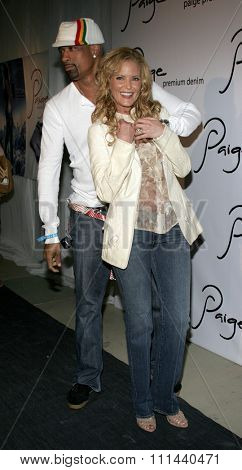 November 17, 2005 - Beverly Hills - Dorian Gregory and Paige Adams-Geller at the Paige Premium Denim Party at the Paige Premium Denim Flagship Store in Beverly Hills, California United States.