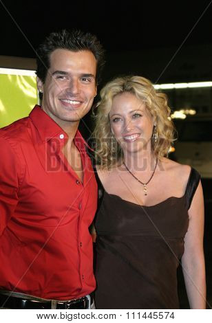 Virginia Madsen and Antonio Sabato Jr. at the