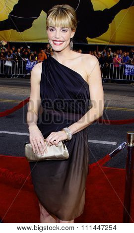 HOLLYWOOD, CALIFORNIA. Wednesday April 30, 2008. Leslie Bibb attends the Los Angeles Premiere of