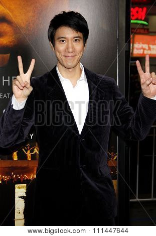 Leehom Wang at the Los Angeles premiere of 'Blackhat'  held at the TCL Chinese Theatre in Los Angeles on Wednesday January 8, 2015.