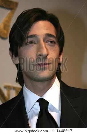 25 January 2005 - Beverly Hills, California - Adrien Brody. 77th Annual Acedemy Awards Nominations Announcement at Samuel Goldwyn Theater Academy of Motion Picture Arts and Sciences in Beverly Hills.