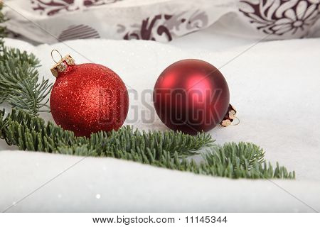 Two Christmas Bauble