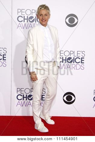 Ellen DeGeneres at the 41st Annual People's Choice Awards held at the Nokia L.A. Live Theatre in Los Angeles on Tuesday January 7, 2015.
