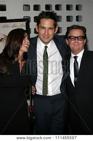 HOLLYWOOD, CALIFORNIA. April 17, 2006. Enrique Murciano and parents attend the Los Angeles Premiere of
