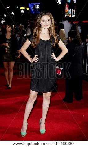 November 9, 2009. Alyson Stoner at the World premiere of