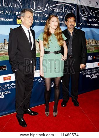 March 1, 2010. David Foster, Erin Foster and Joe Mantegna at the Los Angeles premiere of